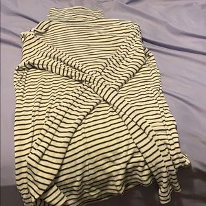 A black and white striped long sleeve shirt